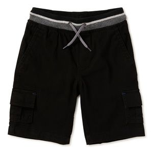 NWT Wonder Nation Black Jogger Shorts Husky L10-12